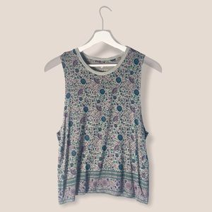 American Eagle Floral Soft & Sexy Tank Size: Small